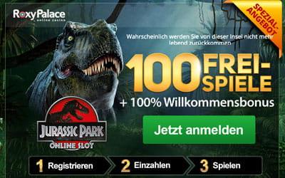 Roxy Palace Freispiele bei Jurassic Park